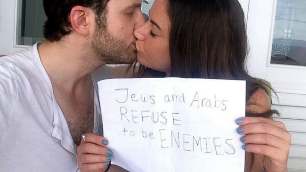 PHOTO: Sulome Anderson, who is half Lebanese, kisses her boyfriend, who is Jewish.