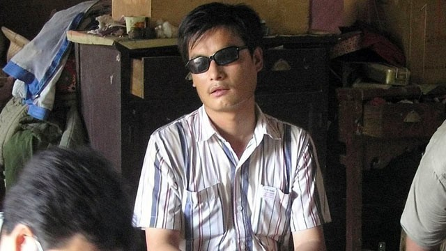 PHOTO: Activist Chen Guangcheng, is seen in a village in China in this undated photo released by Guangcheng supporters.