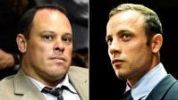 PHOTO: Investigating officer Hilton Botha, left, and Oscar Pistorius are shown in these file photos.