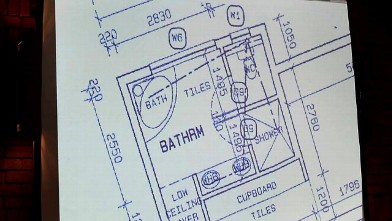 PHOTO: Blueprint of Oscar Pistorius' apartment