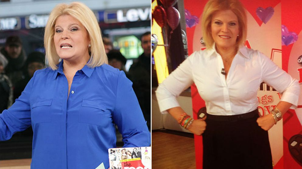 Tory Johnson before and after her weight loss.
