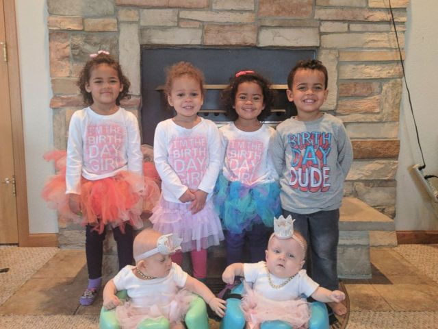 PHOTO: Carrie and Craig Kosinski are adopting two sets of twins and then gave birth to their own set of twins on Feb. 28, 2017.