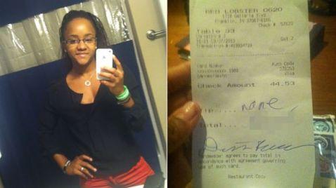HT red lobster racist tip jtm 131010 16x9 608 Red Lobster Waitress Gets $10K Tip After Racist Receipt