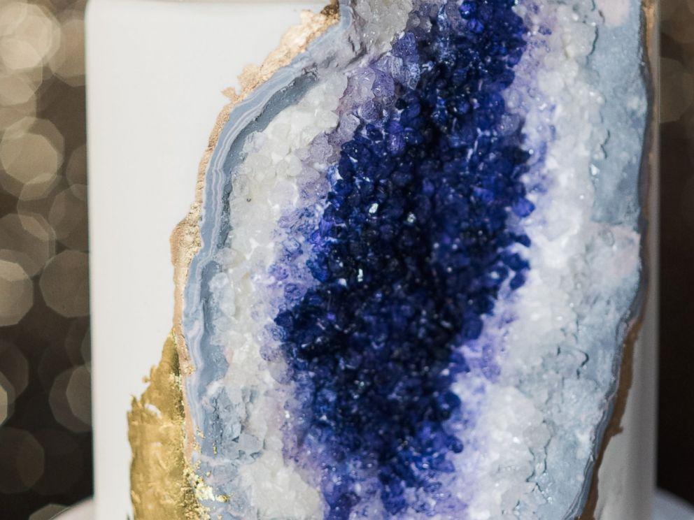 New Geode Wedding Cake Rocks ABC News