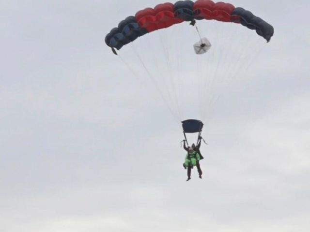 PHOTO: Texas man Al Blaschke skydived on Jan. 4, 2017, to celebrate his 100th birthday.