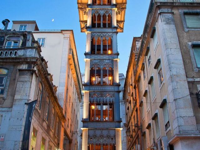 PHOTO: The Santa Justa Lift in Lisbon, Portugal is pictured in this undated stock photo.