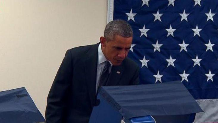 """Résultat de recherche d'images pour """"le président obama a voté ce vendredi à chicago"""""""