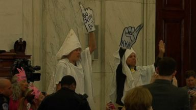 Hasil gambar untuk senate sessions hecklers