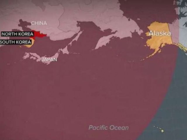 PHOTO: The latest North Korean missile launch on July 4, 2017, shows the countrys capability to reach Alaska.