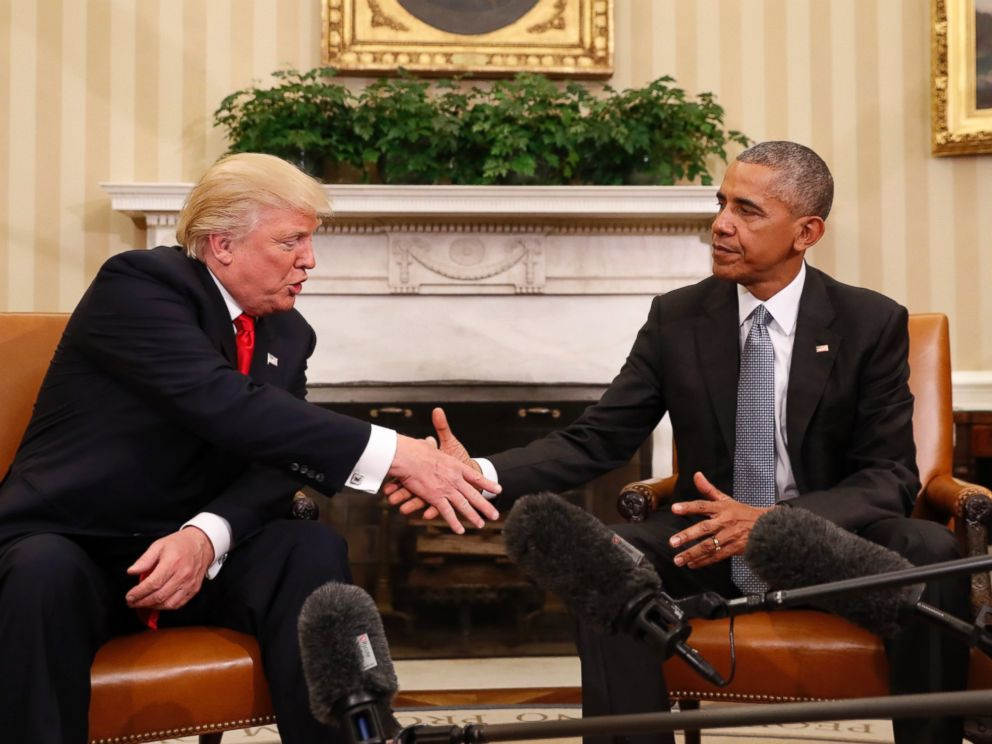 Image result for donald trump and obama