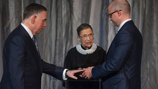 HT ginsburg wedding 130831 16x9 608 Justice Ginsburg Presides at Same Sex Wedding