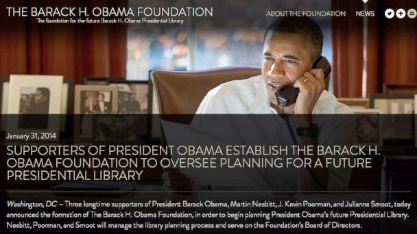 HT obama foundation screen grab 01 jef 140320 16x9 608 Barack Obama Foundation Drops the Middle H
