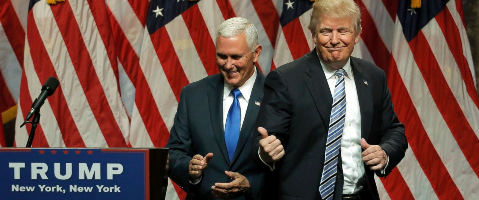Image result for donald trump and mike pence new york