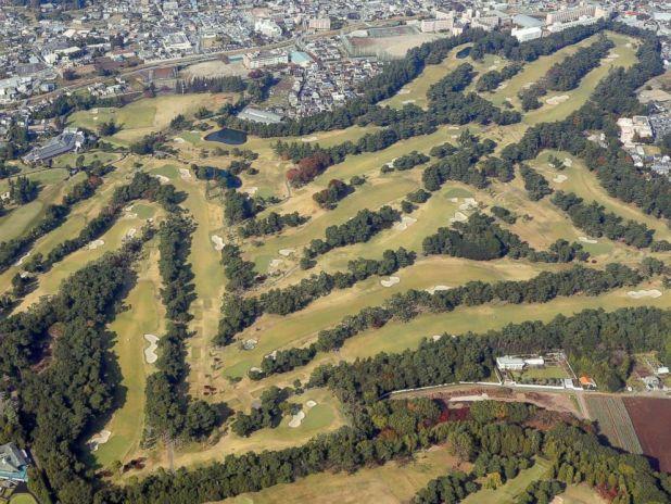 PHOTO: Photo taken Nov. 2, 2017, from a Kyodo News helicopter shows Kasumigaseki Country Club in Kawagoe, Saitama Prefecture, where Donald Trump is scheduled to play a round of golf with Shinzo Abe and PGA Tour player Hideki Matsuyama on Nov. 5.