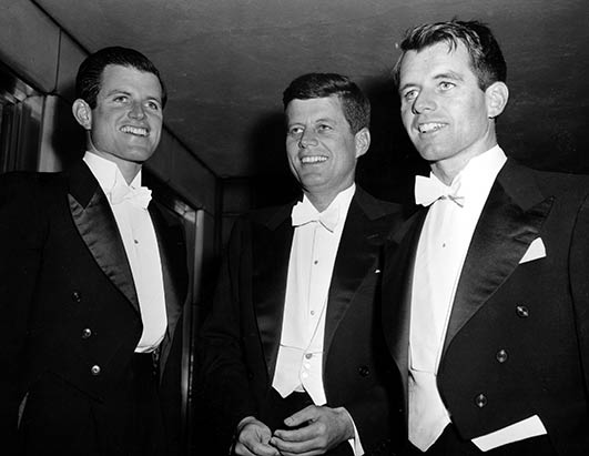 Ted (L), Jack (center) and Bobby (R) in Washington, D.C., 1958