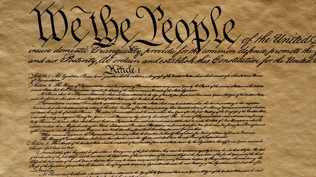 PHOTO: United States Constitution.