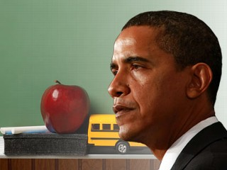 President Obama on back-to-school-message. (ABC News Photo Illustration)