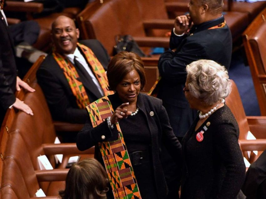 Image result for Black Lawmakers Protest President Trump in Kente Cloth