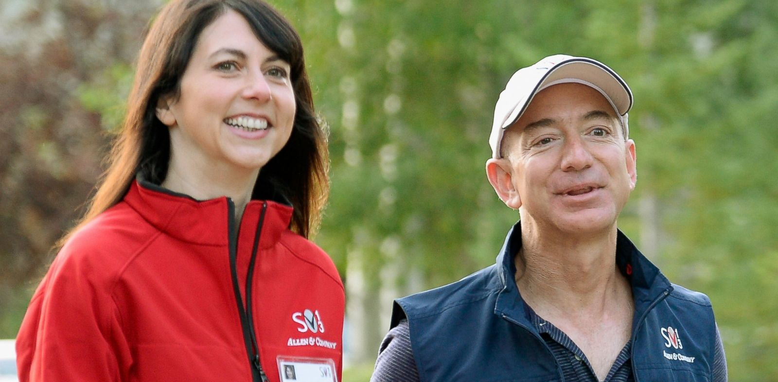 Image result for Jeff and Mackenzie Bezos