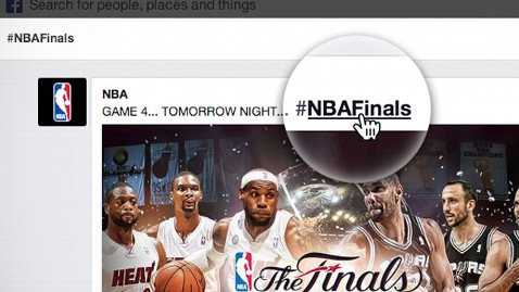 ht facebook hashtags nbafinals thg 130613 wblog Facebook Reportedly Working on News Reader Application