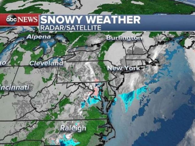 Two storm systems are affecting the East Coast on Tuesday morning.