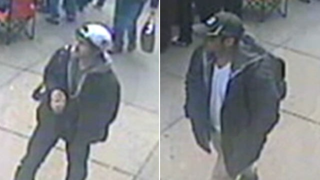 PHOTO: FBI has released images of the suspected bombers in the investigation of the explosions near the Boston Marathon finish line, April 18, 2013, in Boston.