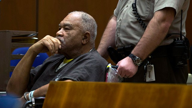 PHOTO: Samuel Little appears in a courtroom for his arraignment in Los Angeles, March 4, 2013.