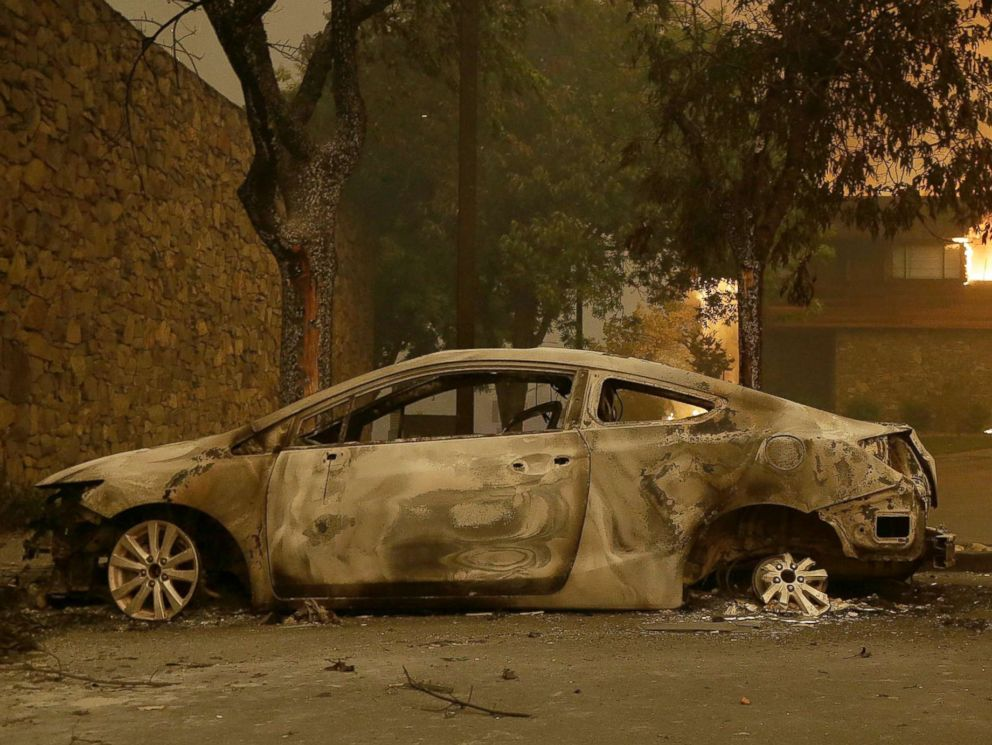 Image result for ca cars burned oct 2017