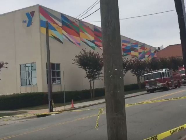 PHOTO: Twenty-three people were taken to area hospitals after a chemical spill at the Downtown Durham YMCA in Durham, N.C., Aug. 2, 2017.