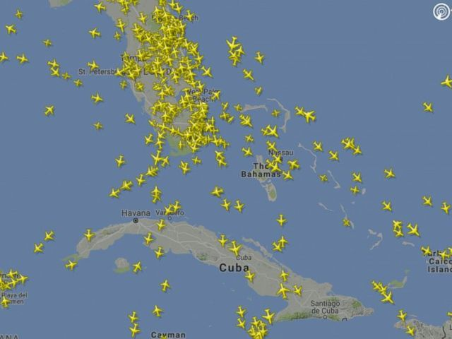 PHOTO: Here is how flight radar looked on a typical Saturday a week ago, on Sept. 2.