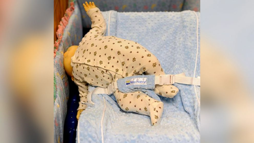 PHOTO: The Nap Nanny infant recliner was recalled in 2013 due to safety concerns. Pictured is a reenactment with a doll, provided by the CPSC, which demonstrates incorrect use of a Nap Nanny placed in a crib.