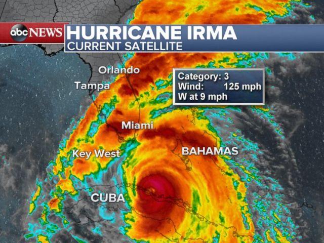 PHOTO: Hurricane Irma current satellite map.