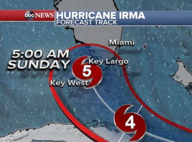 PHOTO: Hurricane Irma forecast tracker.