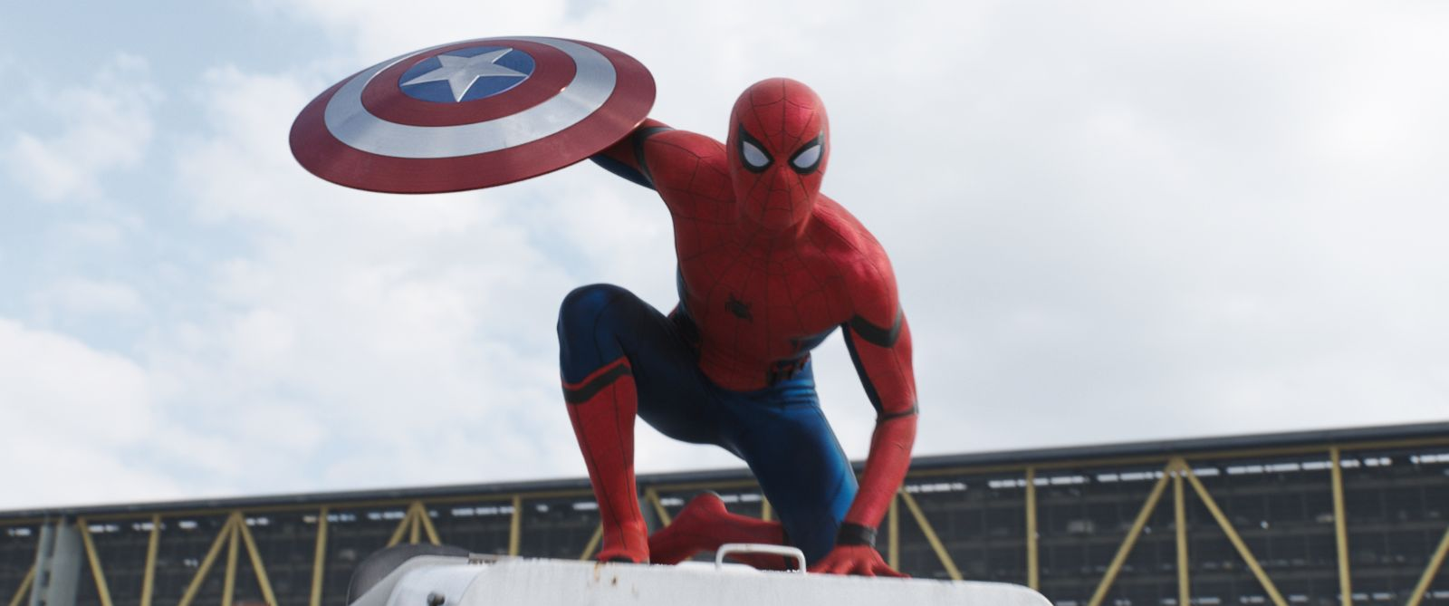 "PHOTO: Tom Holland as Spider-Man in ""Captain America: Civil War."""