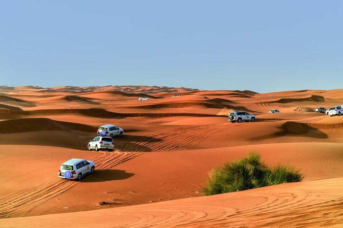 Dune bashing tour activity in Qatar