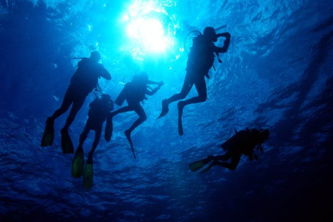 Scuba diving activity in Qatar