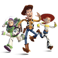 Buzz, Woody, and Jesse from Toy Story 3