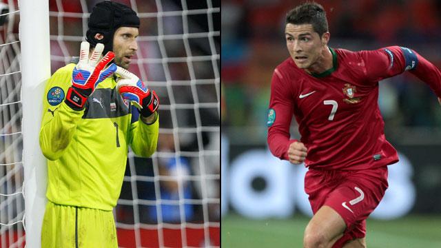 Peter Cech vs Cristiano Ronaldo