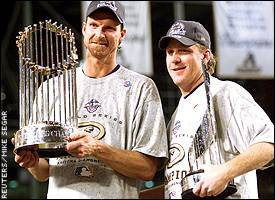 Randy Johnson and Curt Schilling