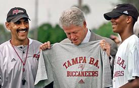 Tony Dungy, President Clinton, James Dungy