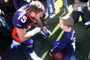 Tim Tebow with Zac