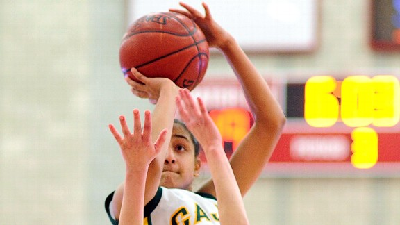 """Senior guard Sophia Basin, a Long Island University recruit, has been on a scoring and triple-double tear for Cajon (San Bernardino, Calif.). "" (photo: espn.go.com)"