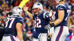 Tom Brady, Rob Gronkowski, Nate Solder