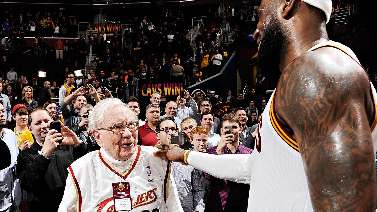 LeBron James Cleveland Cavaliers Host Warren Buffett In