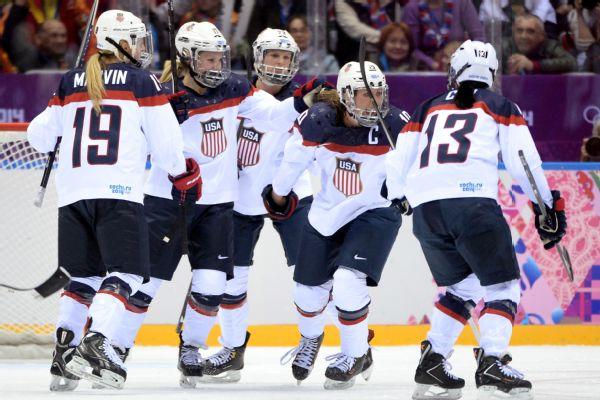 U.S. women's hockey team