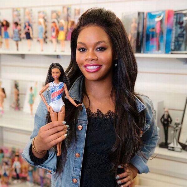 Muñeca Gabby Douglas de la colección Shero para Barbie. Cortesía Mattel