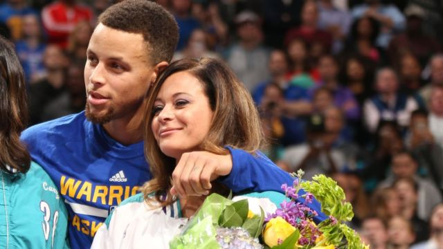 Sonya Curry sinks half-court shot to kick off All-Star Weekend - ABC7 San  Francisco
