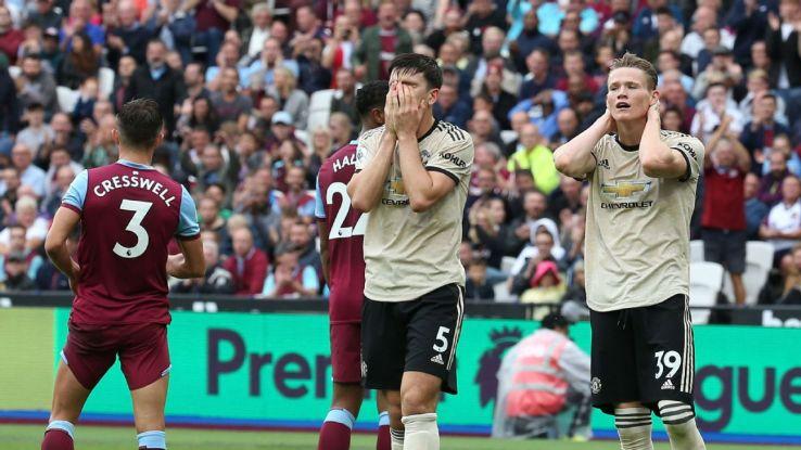 Man United poor again in West Ham defeat: Mata, Matic 4/10
