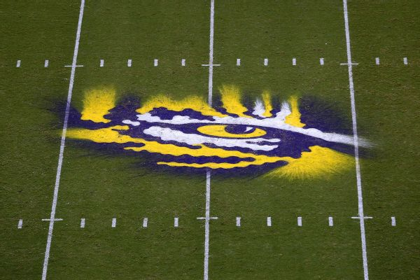 LSU banning RB Guice, firing longtime law firm