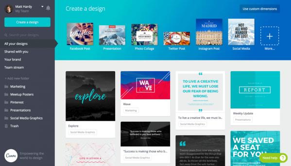Samsung creative apps Canva